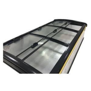 Sliding Arc Glass Door Seafood Freezer for Supermarket pictures & photos
