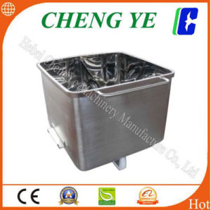 Vegetable Skip Car/ Charging Car SUS 304 Stainless Steel 200kg pictures & photos