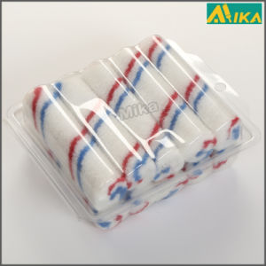 "10PCS 4"" Red and Blue Strips Nylon Mini Paint Roller Set"
