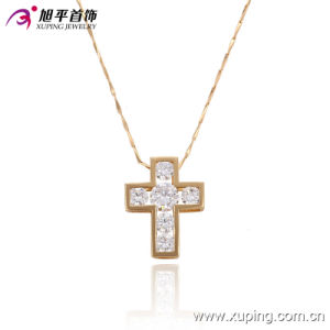 32279-Fashion Popular 18k Gold-Plated CZ Diamond Crosss Imitation Jewelry Necklace Pendant pictures & photos