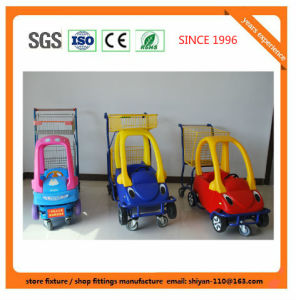 High Quality Shopping Trolley Manufacture 08011 Metal and Zinc/Galvanized/ Chrome Surface pictures & photos