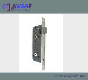 Mortise Door Lock Body Lockcase for Exterior & Interior Door (8545SS-BK)