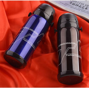 Double Wall Stainless Steel Wide Mouth Aotuseal Two Lid Flask pictures & photos