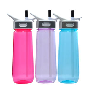 650ML Plastic Sports Bottle With Straw, Water Bottle Joyshaker With Straw