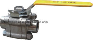 Forged Stainless Steel 3PC Threaded Ball Valve pictures & photos