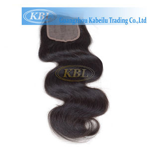 100% Natural Human Hair Bundles Lace Frontal Closure Factory pictures & photos