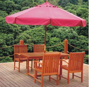 Wholesale Deluxe Wooden Outdoor Beach Patio Umbrella pictures & photos