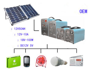 Portable Solar Power Generator System for Home Use, Outdoor and Travel pictures & photos