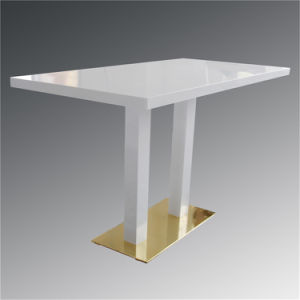 Artificial Stone High End Top Square White Dining Table/Hot Pot Table/Restaurant Table pictures & photos