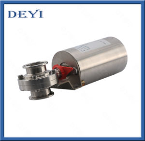 Hygienic Pneumatic Butterfly Valve with Control Cap (DY-PB01) pictures & photos