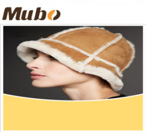 Genuine Sheepskin Fur Caps Fashion Women Hat pictures & photos