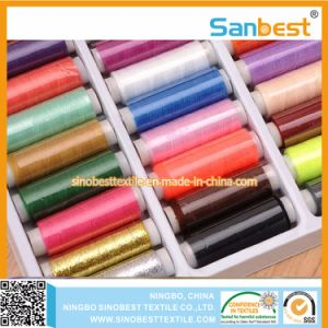 Ne40/2 Spun Polyester Sewing Thread on Small Reels pictures & photos
