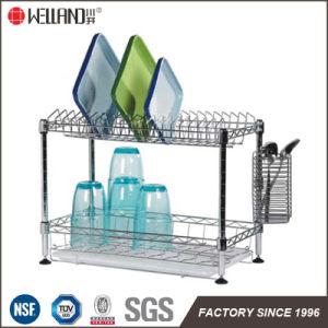 Welland Patent DIY Chrome Metal Kitchen Dish Rack Holder pictures & photos