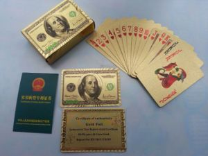 Us Dollar Playing Cards, Gold Playing Cards pictures & photos