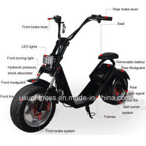 2018 New Prodcuts Hot Sell New Design Two Wheel Electric Motorcycle City Coco pictures & photos