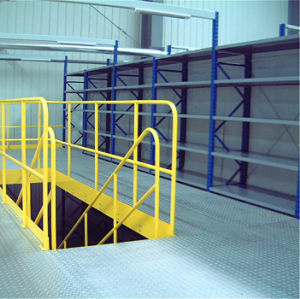 Two Levels Mezzanine System with Steel Grate Flooring pictures & photos