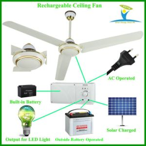 "56"" 230V Input AC DC Ceiling Fan with Battery and BLDC Motor pictures & photos"