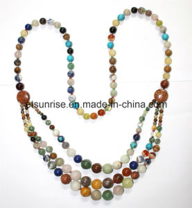 Semi Precious Stone Crystal Beaded Fashion Necklace pictures & photos