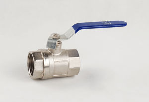 Brass Nickle Plated Thread Ball Valve (YD-BV84)