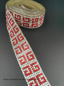 Iron Crystals Strip Applique Rhinestone Heat Transfer Mesh Diamond Strip (Tp-235 strips) pictures & photos