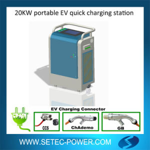 Setec 20kw Mobile DC Quick Charging Station for Electric Vehicle