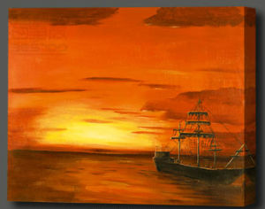 Sunrise Oil Painting for Home Decoration (SC 10040 A)