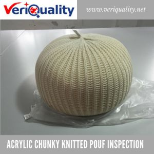 Acrylic Chunky Knitted Pouf Quality Control Inspection Service at Suzhou, Jiangsu pictures & photos