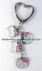 Key Chain -Hello Kitty Shaped with Glitter Epoxy pictures & photos