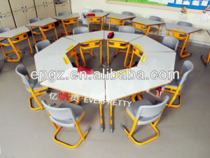 High Quality Colorful Plastic Kindergarten Desk and Chair pictures & photos