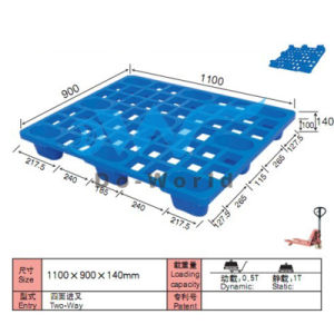 Light Plastic Pallet in Size L1100*W900*H140mm pictures & photos