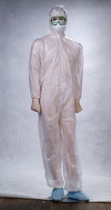 Open Back Coated Polypropylene Isolation Gowns Waterproof Featured pictures & photos