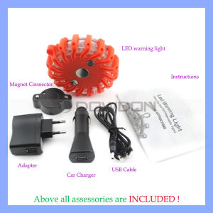 Rechargeable LED Safety Light Car Ceiling Emergency Safe Vehicle Haze Warning Light pictures & photos