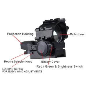 4 Reticles Projected Red Green DOT for Tactical Holographic Sight