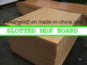 18mm Good Color and Quality Slotted Laminted/Melamine MDF pictures & photos