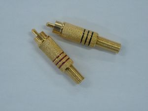 Gold Plated RCA Male Connector with Metal Spring Red&Black pictures & photos