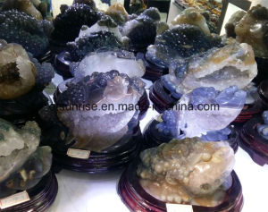 Semi Precious Stone Drusy Agate Drusy Carving Toad pictures & photos