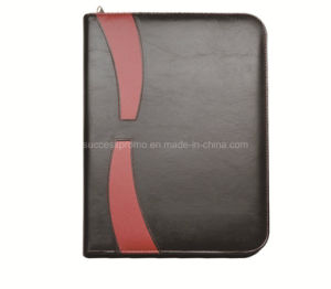 Customised Hand-Made Leather File Folder with Pen Loop pictures & photos