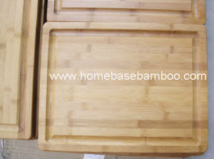 Bamboo Cutting (Chopping) Board with a Well Around Board (HB-2240) pictures & photos