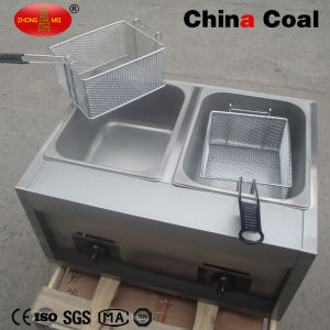 Gas Cylinder 2 Basket Deep Fryer pictures & photos