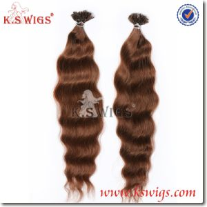 Best Quality Keratin Hair Extension Human Remy Hair pictures & photos