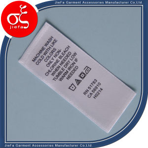 Custom Printed Label/Wash Care Label/Ribbon Pinting Label pictures & photos