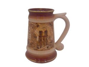 Stoneware Coffee Mug with Big Handle