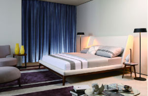 Hot Sale Bedroom Furniture White Fabric Modern Style Bed (MB1203) pictures & photos