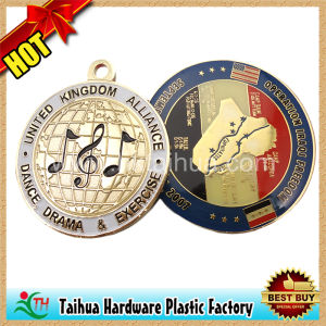 Round Earth and Flag Metal Medals Souvenir (TH-mkc100) pictures & photos
