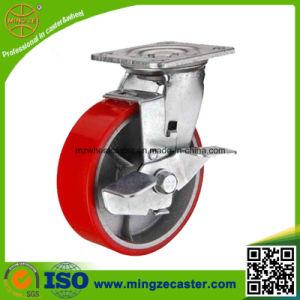 Medium Heavy Duty Sibe Brake PU Caster Wheels pictures & photos