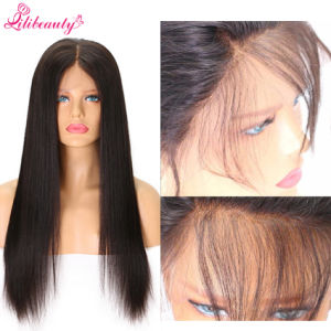 7A Peruvian Virgin Hair Straight Hair Full Lace Wig with Silk Base pictures & photos