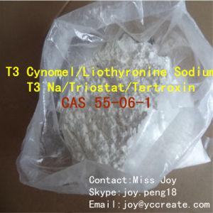 Liothyronine Sodium/ T3 Cynomel/ T3 Na/ Effective Fat Burner Cytomel CAS 55-06-1 Triostat/ Tertroxin