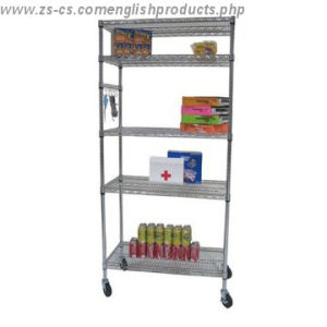 Commercial Adjustable Chrome Metal Wire Rack Shelf Shelving Unit pictures & photos