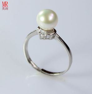 Silver Pearl Ring  (ER1608) pictures & photos
