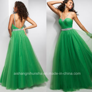 2017 Prom Dresses Sweetheart Beads Pleat Tulle Evening Dress ED002 pictures & photos